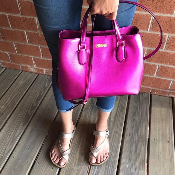 kate spade Handbags - Kate Spade Laurel Way Evangeline Pink Satchel Bag